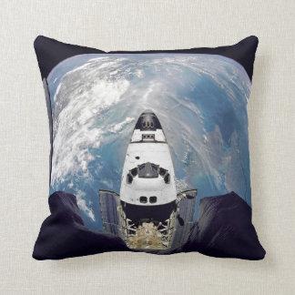 Shuttle Over Earth Pillow