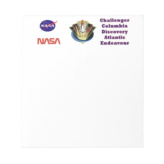 Shuttle Program Commemorative Notepad