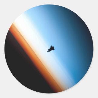 Shuttle Silhouette Classic Round Sticker