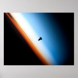 Shuttle Silhouette Poster