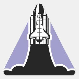 Shuttle start triangle sticker