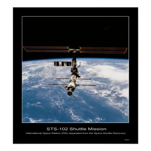 Shuttle-sts102-714-078 Póster
