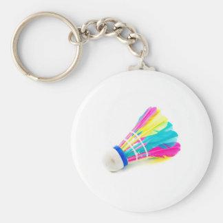 Shuttlecock Basic Round Button Keychain