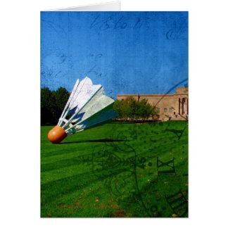 Shuttlecock on the Lawn Card