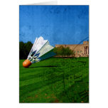 Shuttlecock on the Lawn Greeting Cards
