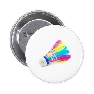 Shuttlecock Pinback Button