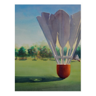 """Shuttlecocks"" Paul Jackson Watercolor Postcard"