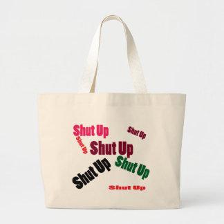 shutup bolsa de tela grande