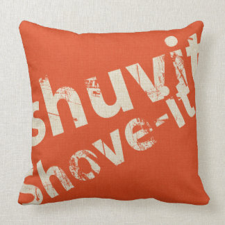 Shuvit Shove-It Word Art Pillow Orange & Natural