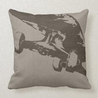 Shuvit Shoveit SkateBoard Taupe Throw Pillow