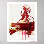 SHWANN: El samurai futurista DJ Posters