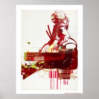 Shwann: The Futuristic Samurai Dj Poster at Zazzle