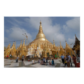 Shwe Dagon Pagoda, Yangon, Myanmar (Burma) Poster
