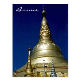 shwedagon burma post card