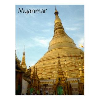 shwedagon gold stupa post card
