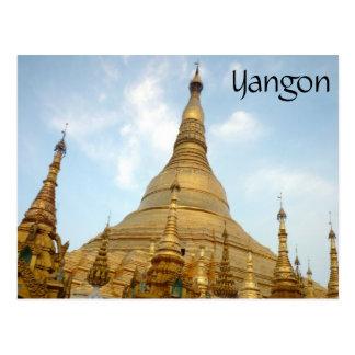 shwedagon golden tops post cards