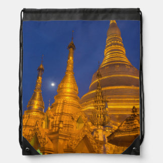 Shwedagon Pagoda at night, Myanmar Drawstring Backpack