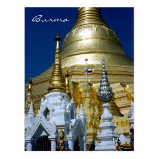 shwedagon pagoda burma postcards