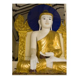 Shwedagon Pagoda (Paya), large temple site that 3 Postcards