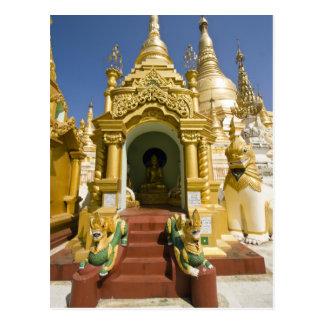 Shwedagon Pagoda (Paya), large temple site that 4 Postcard