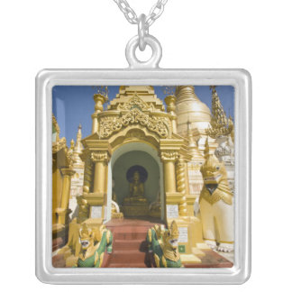 Shwedagon Pagoda (Paya), large temple site that 4 Silver Plated Necklace