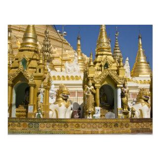 Shwedagon Pagoda (Paya), large temple site that Post Card