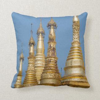 Shwedagon Pagoda Spires Throw Pillow