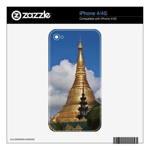 Shwedagon Pagoda, Yangon, Myanmar Decal For The iPhone 4S
