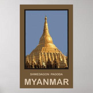 Shwedagon Pagoda Yangon Myanmar Poster