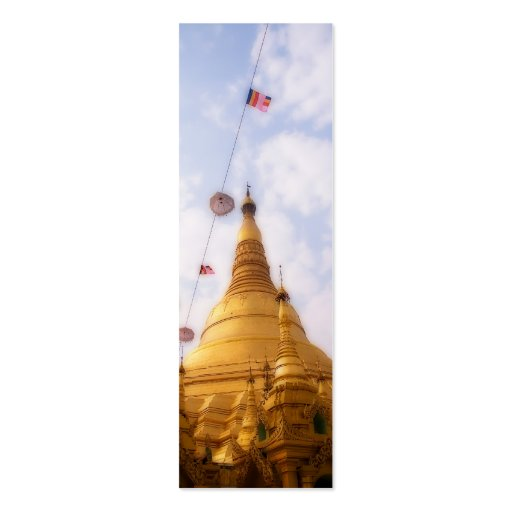 Shwedagon Paya Bookmark Mini Business Card