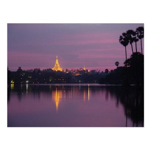 shwedagon postcard