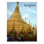 shwedagon rangoon postcard