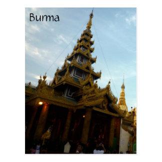 shwedagon stupa postcard