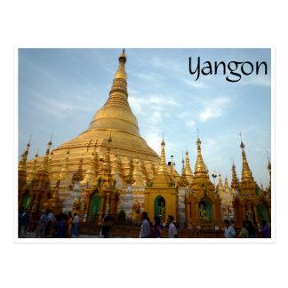 shwedagon yangon postcards