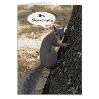 Shweetheart Squirrel Valentine's Day Card