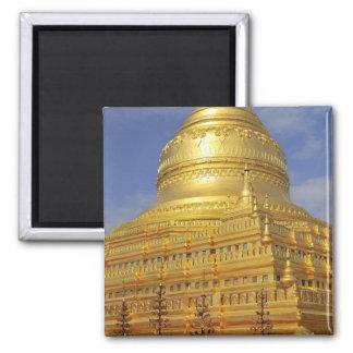 Shwezigon Pagoda in Bagan, Bagan (Pagan), 2 2 Inch Square Magnet