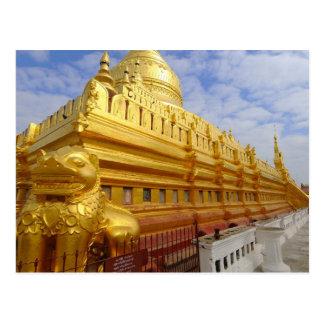 Shwezigon Pagoda in Bagan, Bagan (Pagan), Postcard