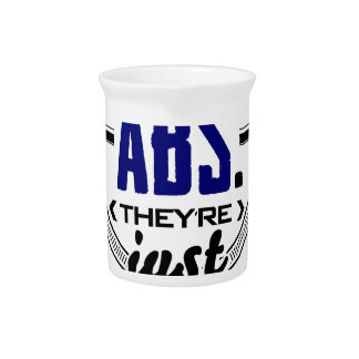 Shy Abs Fitness Workout Gym Training Design Beverage Pitcher