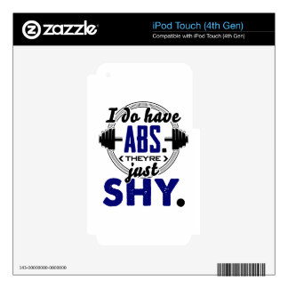 Shy Abs Fitness Workout Gym Training Design iPod Touch 4G Decal
