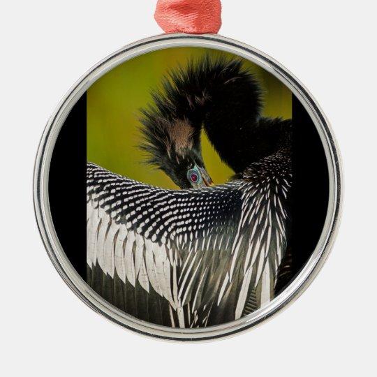 Shy Anhinga Metal Ornament