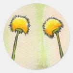Shy awkward dandelions flower art fun painting stickers