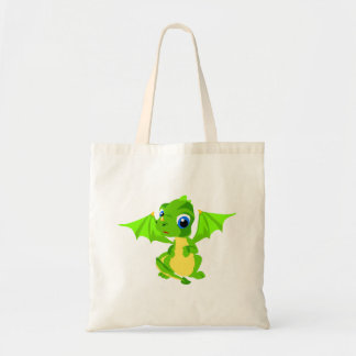 Shy Baby Dragon Canvas Bags