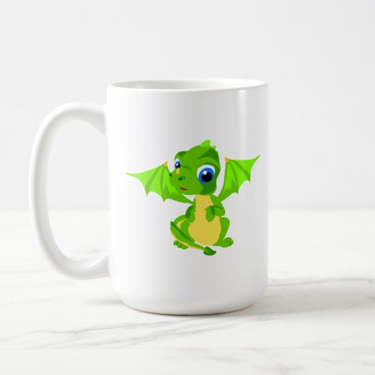 Shy Baby Dragon Coffee Mug