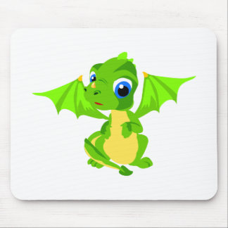 Shy Baby Dragon Mouse Pad