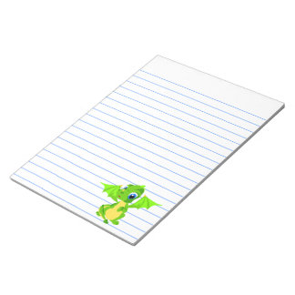Shy Baby Dragon Note Pad