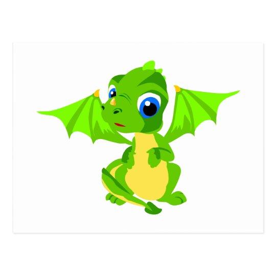Shy Baby Dragon Postcard
