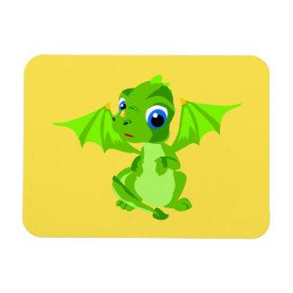 Shy Baby Dragon Rectangular Photo Magnet