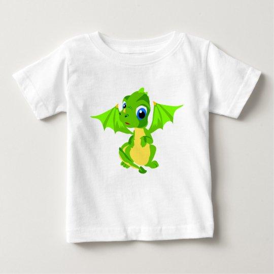 Shy Baby Green Dragon Baby T-Shirt