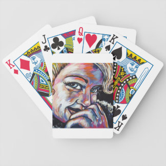 shy blonde playing cards
