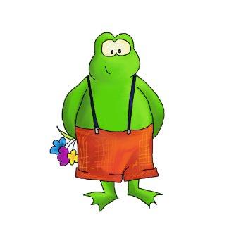 Shy Boy Frog Art Print print